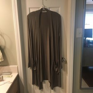 Olive Green Long Cardigan
